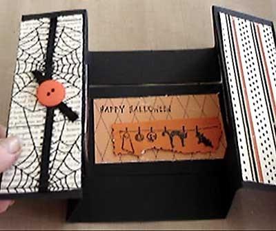 Halloween scrapbook card