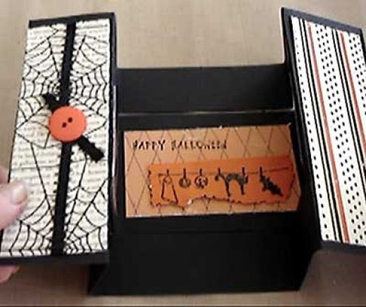 Halloween scrapbook card