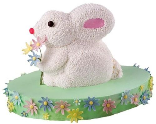 Easter bunny cake stand up