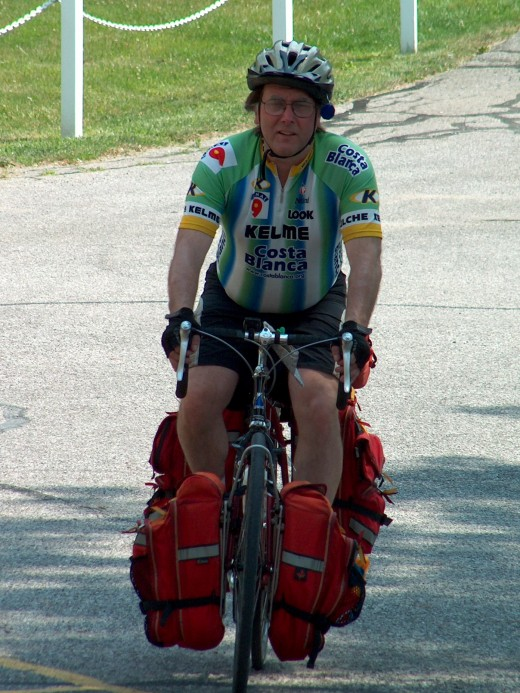The author out on a bike tour