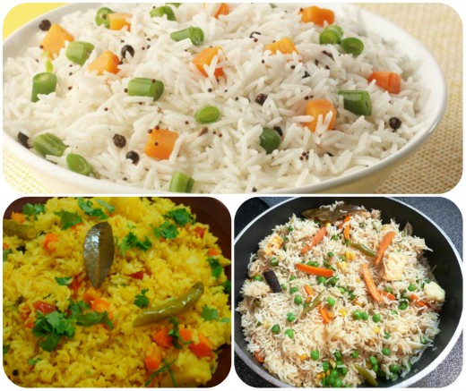 Vegetable Rice Dishes