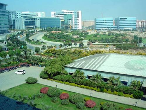 A view of Hitech City in Hyderabad