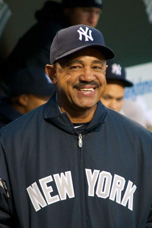 Tony Pena, Catcher for the St. Louis Cardinals 1987-1989. Shown here wearing his NY Yankees uniform representing his current job.