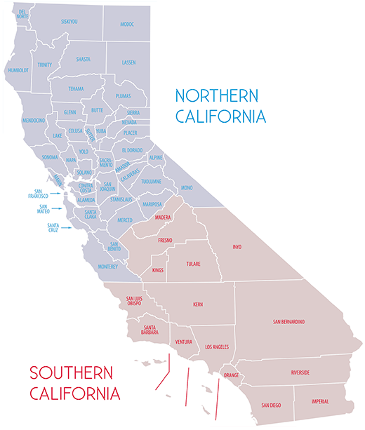 What two California states might look like.