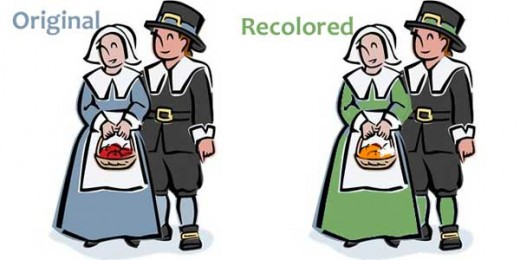 Pilgrim clip art, in two different colours