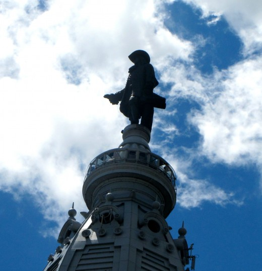William Penn, atop Philadelphia's City Hall, might also have some angry moments.
