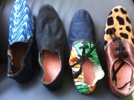 fashionable shoes made with bare hands. No machines not a corporation.