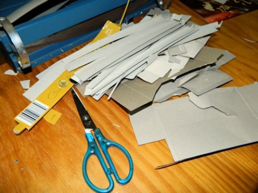 Look through the offcuts for larger pieces that might make good pages too!