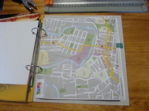 Map page, folded.