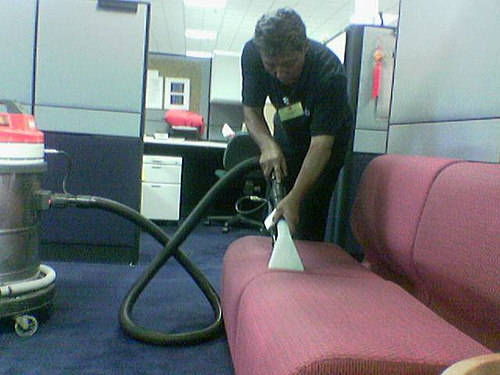 Cleaning the Upholstered Couch (Photo courtesy by askmaxvalue from Flickr)