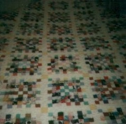 Hand-quilted by Cora Joy Martin for the author