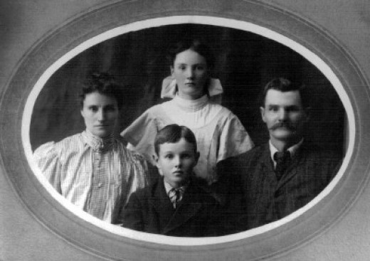 Marie and Alfred Joy with Cora and Harry
