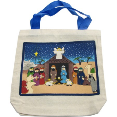 Canvas Nativity Tote
