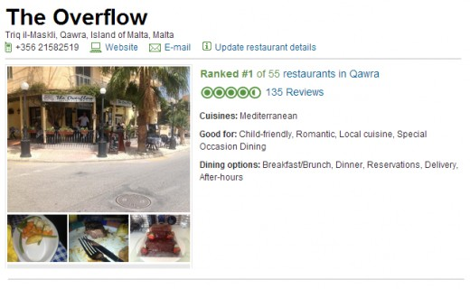 The Overflow Restaurant on TripAdvisor