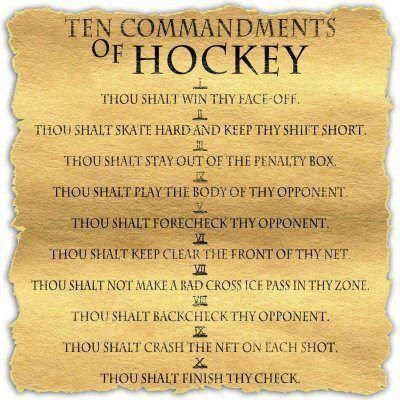 Hockey Commandments