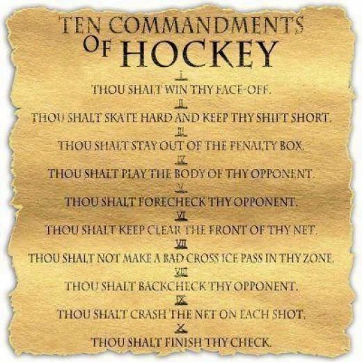 Hockey Commandments