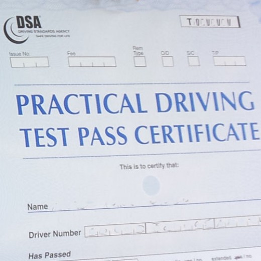 The examiner will tell you whether you have passed or failed at the end of your driving test