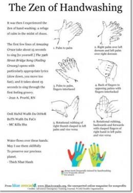 The Zen of Handwashing Poster