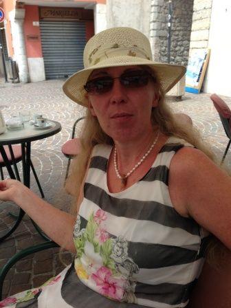 Relaxation in a café in Garda City (Northern shore of Lake Garda)