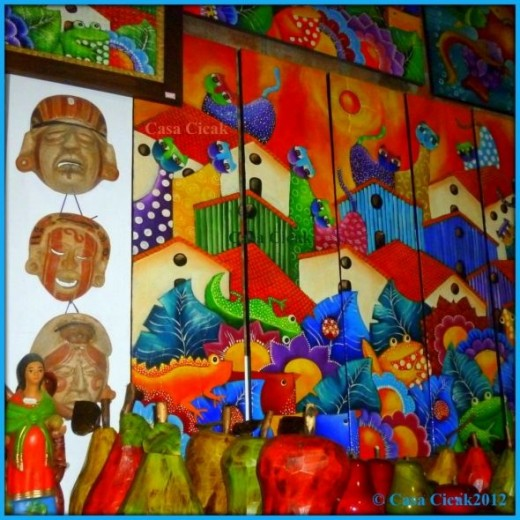 Fernando Llort style paintings