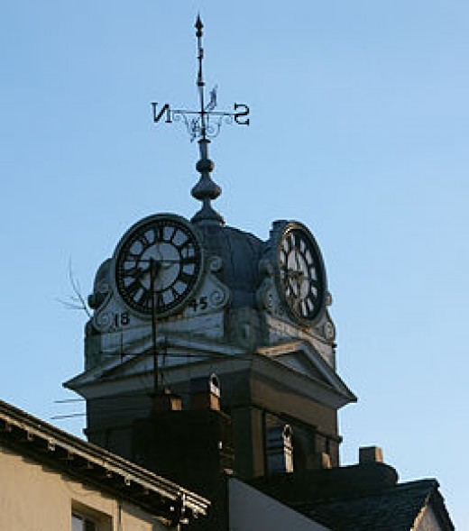 James was an expert with old clock towers such as the one depicted here