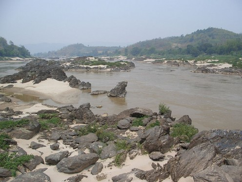 A rocky part of the Mekong river.