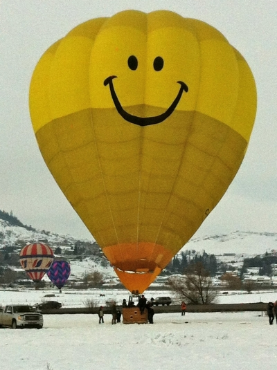 Mr. Smiley Hot Air Balloon Style