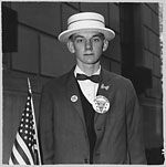 Diane Arbus: Patriotic Young Man