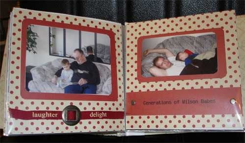 Double Page Layout from Baby Scrapbook