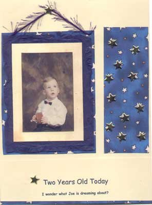 Scrapbook Layout Showing Young Boy
