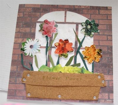 Front Page of Scrapbook with Floral Theme