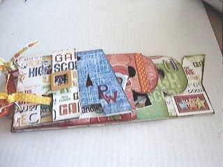 Acrylic Scrapbook Album Spelling HAPPY