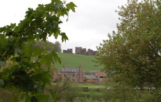 Goodrich Castle overlooking the bridge