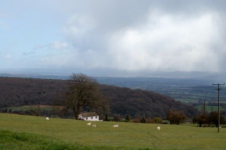 Gloucester in the distance across the Severn Valley