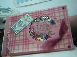 Shaker Box used as a Scrapbook Embellishment