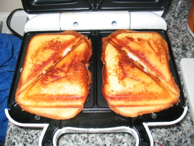 Grilled Cheese, toasted and ooey-gooey!