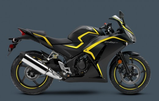 The Matte Black with Yellow is my favorite color scheme of the 2015 CBR300R!
