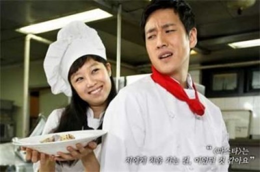"""Lee Sun Gyun as the hard-to-please Chef Choi Hyun-wook in """"Pasta"""" (2010)"""