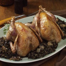 Roast Pheasant and Wild Rice
