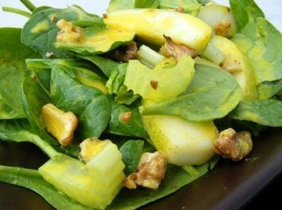 Pear, Spinach, Walnut & Celery Salad