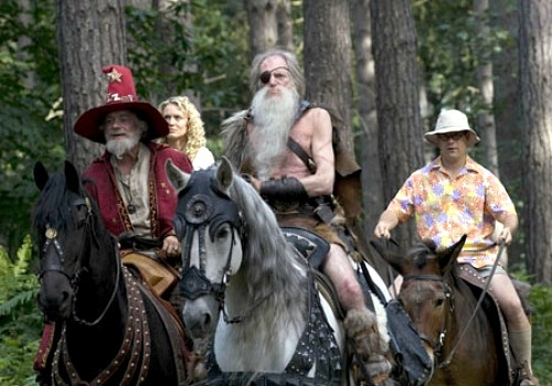 Rincewind, Twoflowers Cohen Riding in Woods on Horses