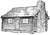 Typical Log Cabin sketch by answers.com