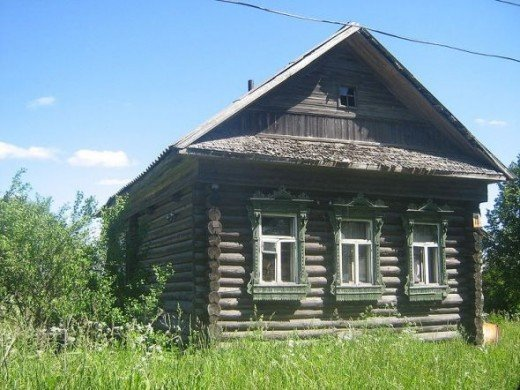 Russian log cabin: Izba in the village of Kulashino in Tver Oblast  www.answers.com/topic/log-cabin#ixzz1yrreeCY1