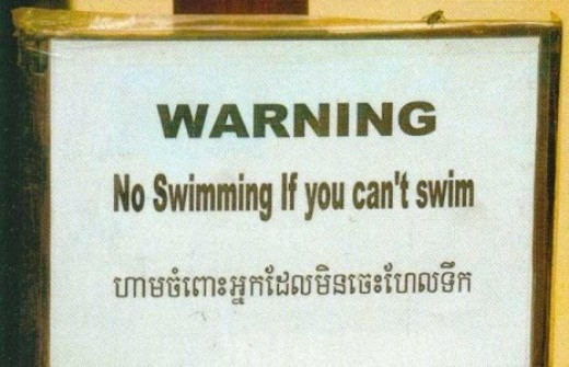 Avoid drowning yourself.