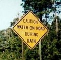Does the road really get wet when it rains?