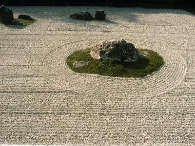 Zen Rock Garden, Ryoanji Temple, Kyoto, Japan