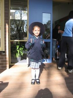 Her first day of school