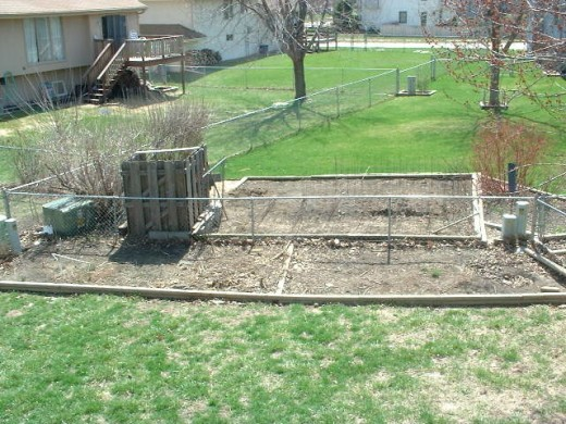 """My last """"traditional"""" veggie garden, years ago, just cleaned out"""
