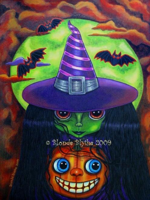 """""""Blythe Pumpkin Witch Doll"""" by Blonde Blythe"""