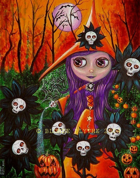 """""""Halloween Blythe and the Magic Garden"""" by Blonde Blythe"""